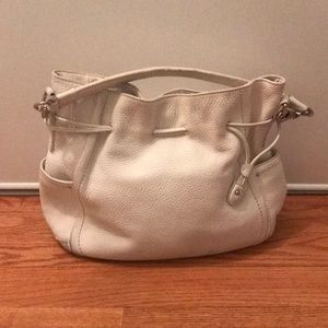 Cole Haan White Large Leather Hobo
